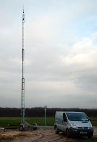 Tower Mast for increased range of your communications